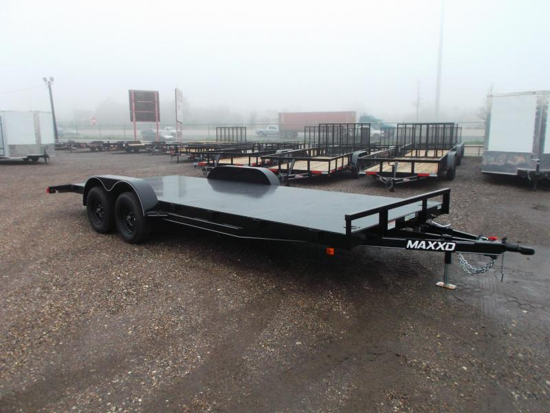 2019 Maxxd 83x18 Steel Deck Car Hauler / Racing Trailer / Powder Coated / 5ft Ramps / 2ft Dovetail / Radial Tires