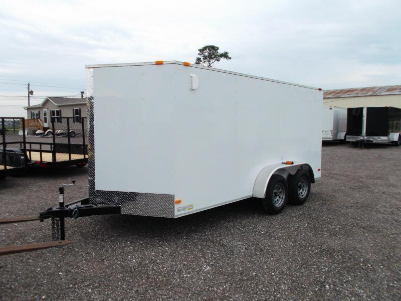 2019 Covered Wagon Trailers 7x14 Tandem Axle Cargo Trailer / Enclosed Trailer / Ramp / RV Side Door