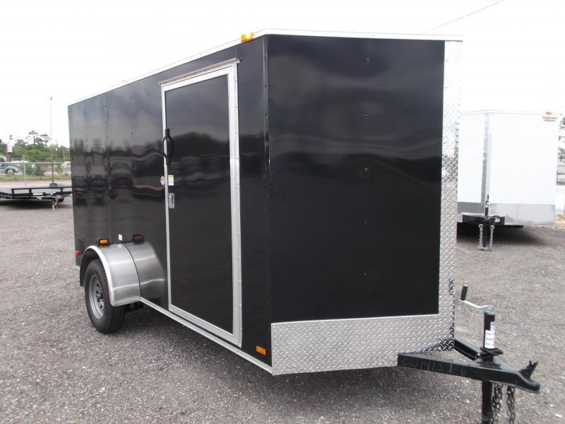 2019 Covered Wagon Cargo 6x12 Single Axle Cargo Trailer / Enclosed Trailer / Ramp / RV Side Door