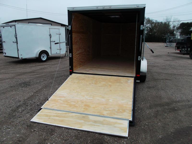 2019 Covered Wagon Trailers 7x12 Tandem Axle Motorcycle Trailer / Cargo Trailer / Enclosed Trailer / Ramp / RV Door / LEDs