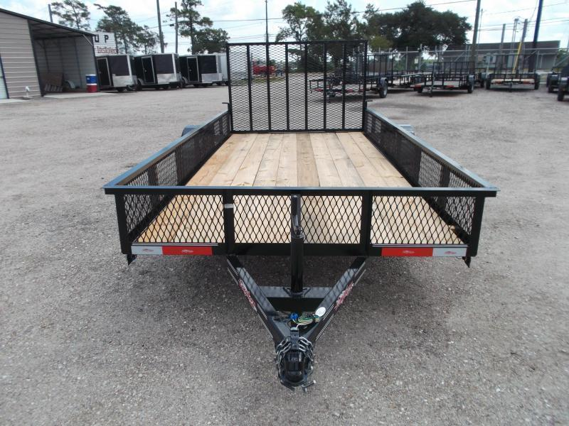 "2019 Longhorn Trailers 77x14 Single Axle Utility Trailer / Landscape Trailer w/ 15"" Expanded Metal Sides / 4ft Heavy Duty Ramp Gate"