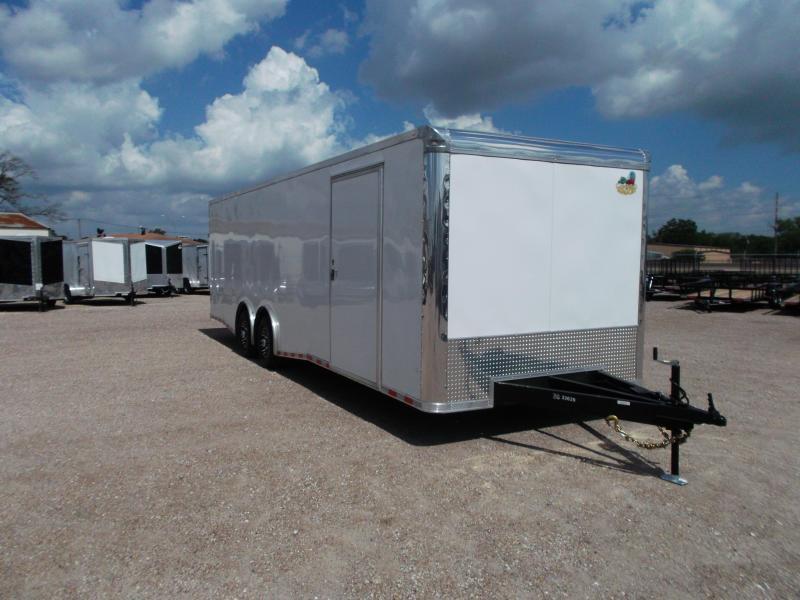 2017 Covered Wagon Trailers 8.5x28 Enclosed Race Car Hauler / Racing Trailer w/ 7K Torsion Split Axles / Mags