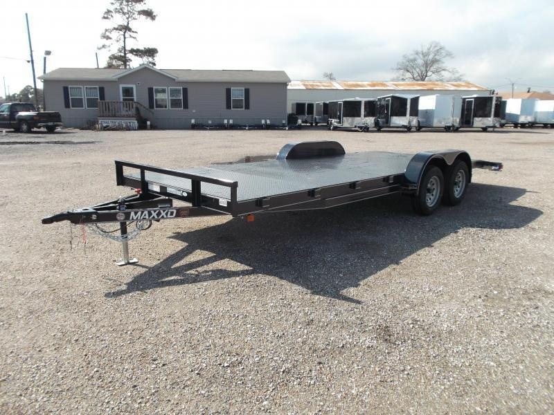 2019 Maxxd 83x20 Steel Deck Car Hauler / Racing Trailer / Powder Coated / 5ft Ramps / 2ft Dovetail
