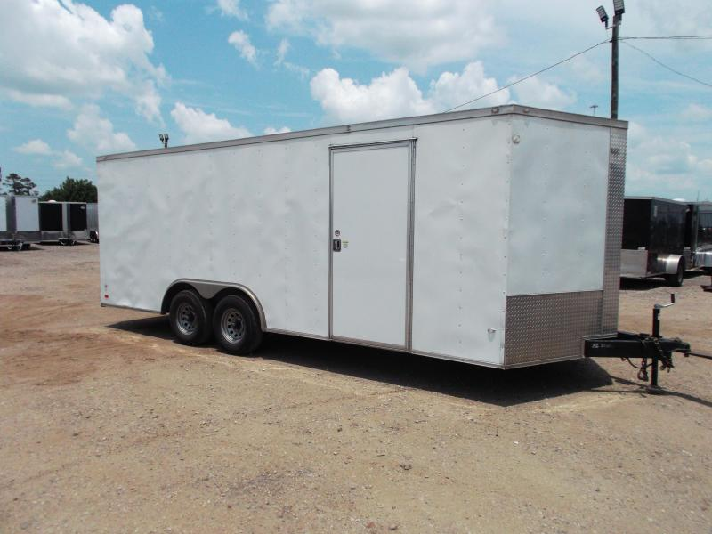 2018 Covered Wagon Trailers 8.5x20 Tandem Axle Cargo / Enclosed Trailer / 5200# Axles / Ramp / LEDs