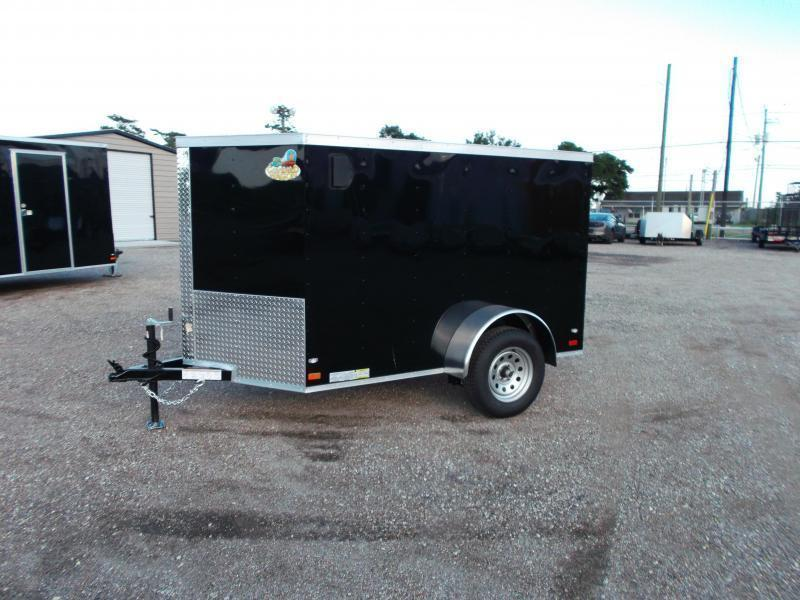 SPECIAL - 2019 Covered Wagon Trailers 5x8 Single Axle Cargo Trailer / Enclosed Trailer / Ramp / LEDs