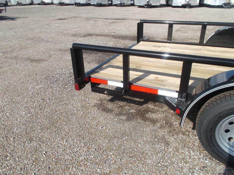 2018 Longhorn Trailers 16ft Utility Trailer w/ Pipetop / 5ft Stow Away Ramps