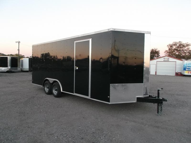 2019 Covered Wagon Trailers 8.5x20 Tandem Axle Cargo / Enclosed Trailer w/ 7ft Interior / 5200# Axles / RV Side Door / LEDs