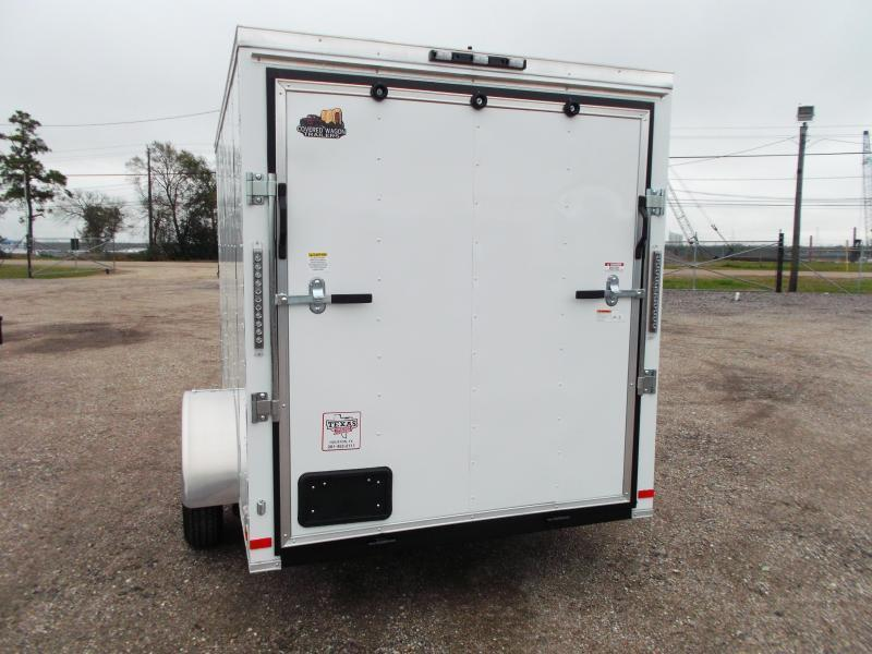 2018 Covered Wagon Trailers 6x10 Single Axle Cargo Trailer / Enclosed Trailer / V-Nose / Ramp / RV Side Door