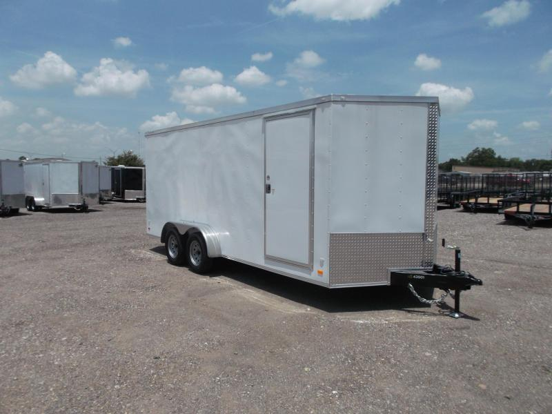 "2018 Covered Wagon 7x18 Tandem Axle Cargo Trailer / Enclosed Trailer / Ramp / 6'6"" Interior / RV Door / LEDs"