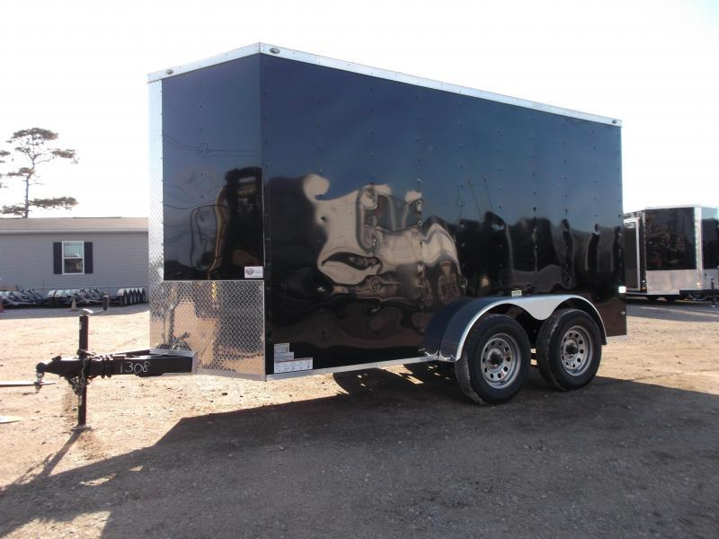 "2019 Texas Select 6x12 Tandem Axle Cargo Trailer / Enclosed Trailer / Ramp / 6'6"" Interior / Side Door / LEDs"
