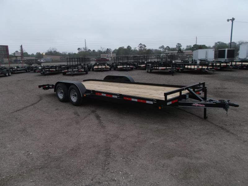 2019 Longhorn Trailers 20ft 7K Car Hauler / Racing Trailer / 2ft Dovetail / 5ft Ramps / Brakes