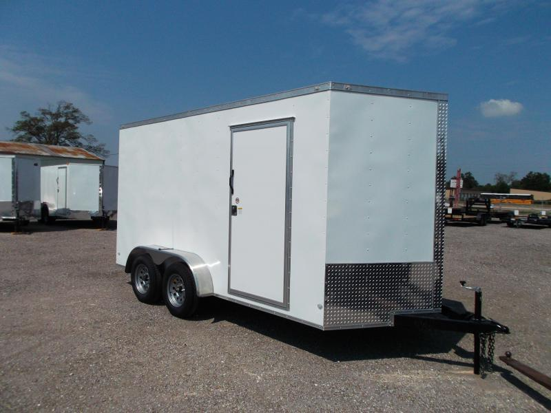 "2019 Covered Wagon Trailers 7x14 Tandem Axle Cargo / Enclosed Trailer / 7'6"" Interior Height / Ramp / LEDs"