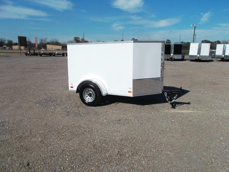 2018 Covered Wagon Trailers 4x6 Single Axle Cargo Trailer / Enclosed Trailer / LEDs