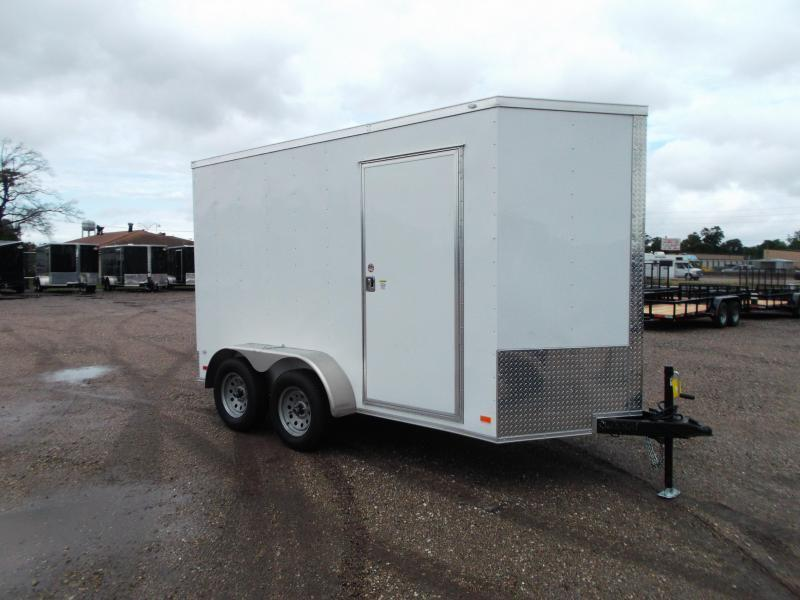 "2018 Covered Wagon Trailers 6x12 Tandem Axle Cargo Trailer / Enclosed Trailer w/ 6'6"" Interior / Ramp Gate"