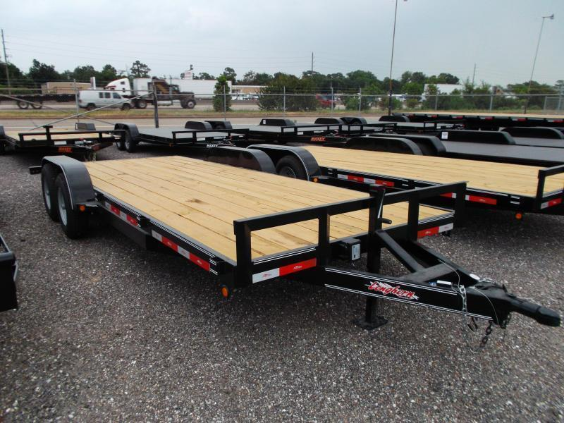 2019 Longhorn Trailers 20ft Tandem Axle 10K Car Hauler / Racing Trailer / Flat Deck / 5200# Axles / 2ft Dovetail / 5ft Ramps
