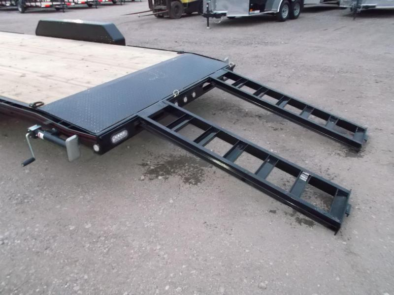 2019 Maxxd Trailers 83X24 10K Car Hauler / Racing Trailer / Flatbed Trailer / Powder Coated / 5200# Axles / LEDs