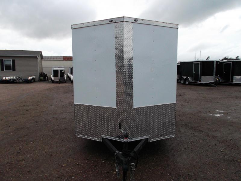 "2019 Texas Select 6x10 Single Axle Cargo Trailer / Enclosed Trailer / 6'3"" Interior / Ramp / Side Door / LEDs"