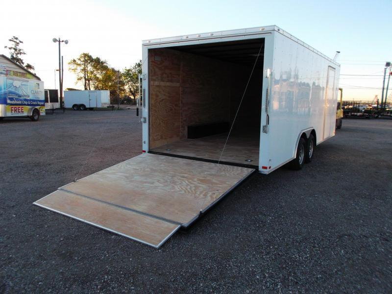 2019 Covered Wagon Trailers 8.5x20 Tandem Axle Cargo / Enclosed Trailer / 7ft Interior Height / 3500# Axles / Ramp / RV Side Door / LEDs