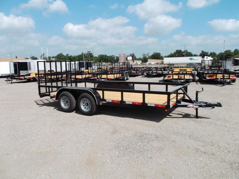 2019 Longhorn Trailers 16ft Utility Trailer / 4ft Heavy Duty Ramp / Electric Brakes