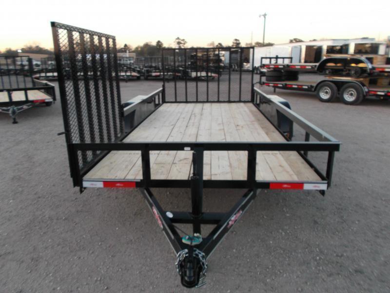 2019 Longhorn Trailers 16ft Utility Trailer / ATV Trailer / Side by Side Trailer / 4ft Rear Ramp / 4ft Side Load Ramp