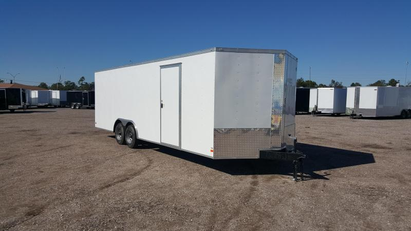 2018 Covered Wagon Cargo 8.5x24 Tandem Axle Cargo Trailer / Enclosed Car Hauler Trailer w/ 5200# Axles / Ramp