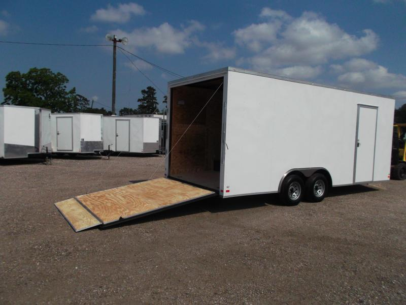 "2018 Covered Wagon Trailers 8.5x20 Tandem Axle Cargo / Enclosed Trailer w/ 7'6"" Interior Height / 5200# Axles / Ramp"