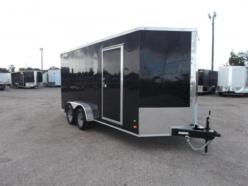 "2018 Covered Wagon Trailers 7x16 Tandem Axle Cargo Trailer / Enclosed Trailer w/ 6'6"" Interior / Ramp"