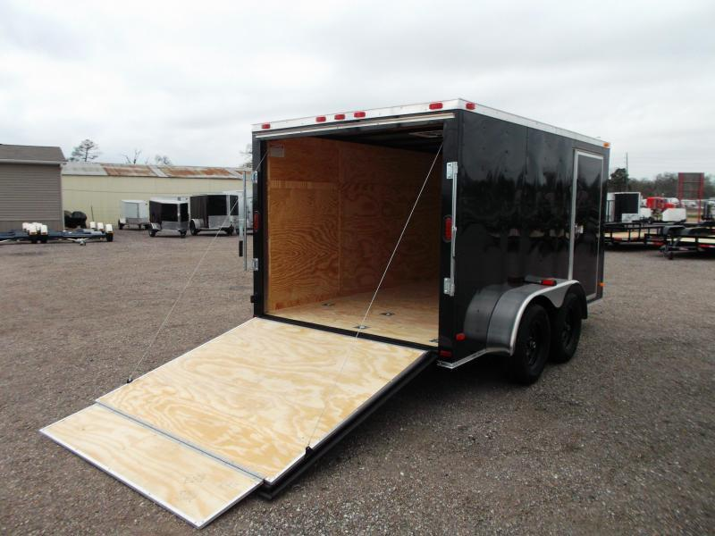 2019 Covered Wagon Trailers 7x12 Motorcycle Trailer / Cargo Trailer / Ramp / (8) D-rings