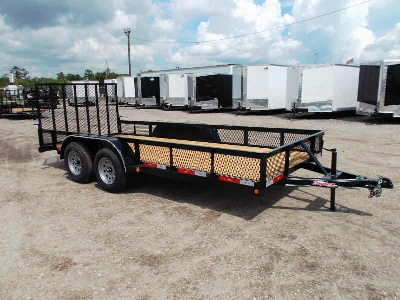 "2019 Longhorn Trailers 16ft Utility Trailer / Landscape Trailer w/ 15"" Expanded Metal Sides / 4ft Ramp Gate"