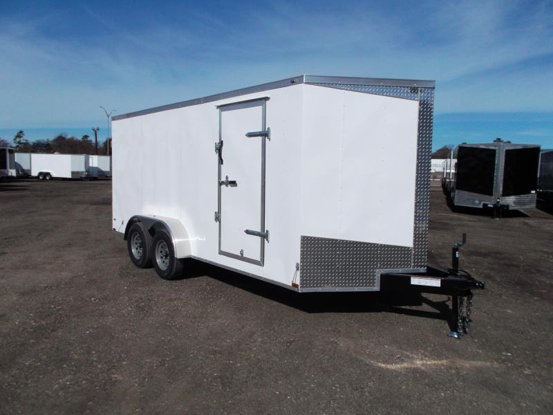 2019 Lark 7x16 Tandem Axle Cargo Trailer / Enclosed Trailer / Barn Doors / LEDs / 5 yr Warranty
