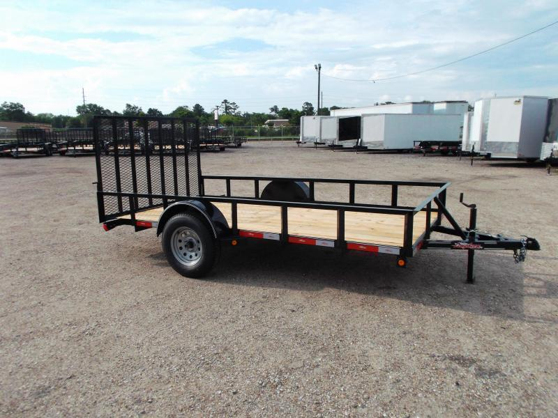 2018 Longhorn Trailers 77x12 Single Axle Utility Trailer / 2ft Dovetail / Heavy Duty 4ft Ramp Gate