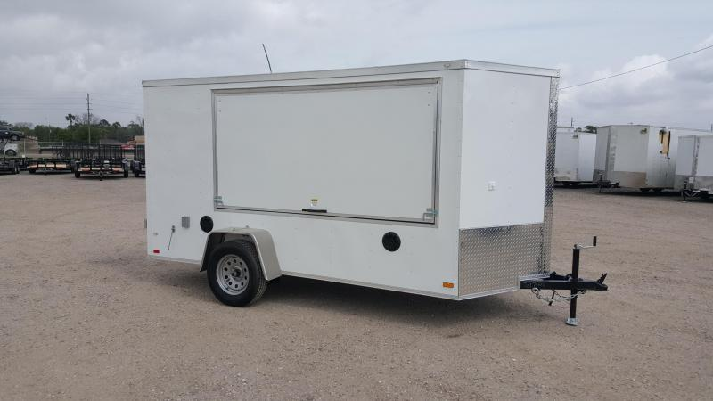 2018 Covered Wagon Trailers 6x12 Tailgate Trailer w/ Stereo Package
