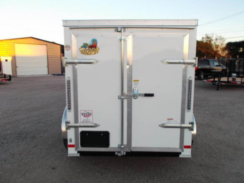 2018 Covered Wagon Trailers 5x8 Single Axle Cargo / Enclosed Trailer w/ Barn Doors & Side Door