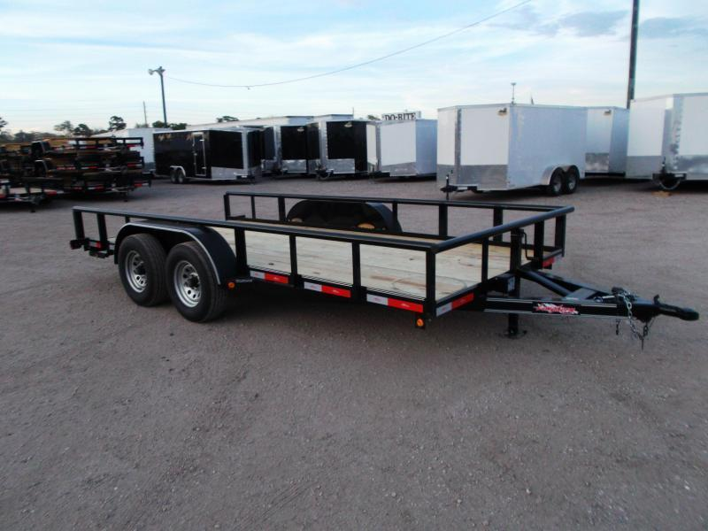 2018 Longhorn Trailers 83x16 Utility Trailer w/ 5200# Axles / Pipetop / 5ft Slide Out Ramps