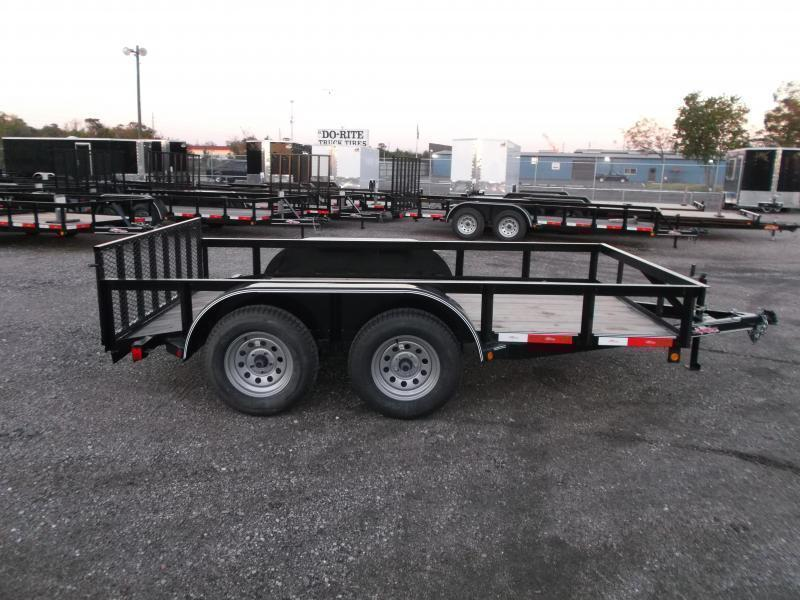 2018 Longhorn Trailers 12ft Tandem Axle Utility Trailer w/ 2ft Dovetail / 2ft Ramp