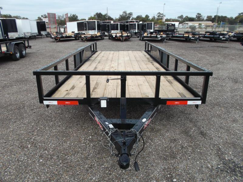 SPECIAL - 2019 Longhorn Trailers 83x20 Utility Trailer / 5200# Axles / Brakes / 5ft Ramps