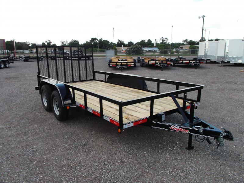 2018 Longhorn Trailers 14ft Utility Trailer w/ Heavy Duty 4ft Ramp Gate