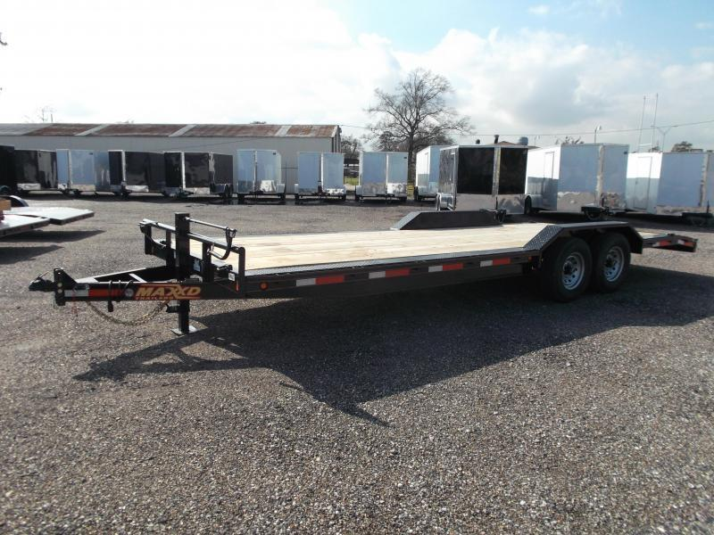 2018 Maxxd 102x24 14K Car Hauler / Flatbed Trailer / Equipment Hauler / Powder Coated / 7K Axles / Drive Over Fenders