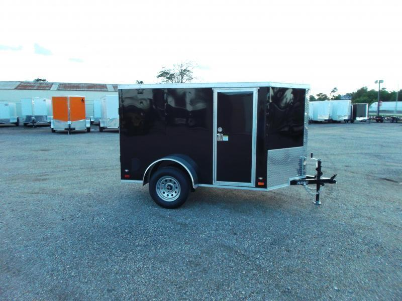 2018 Covered Wagon Trailers 5x8 Single Axle Cargo / Enclosed Trailer / Ramp / RV Side Door / LEDs