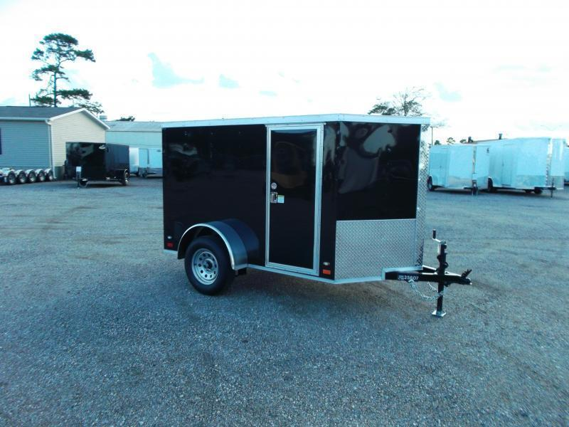 2018 Covered Wagon Trailers 5x8 Single Axle Cargo / Enclosed Trailer w/ Ramp / RV Side Door