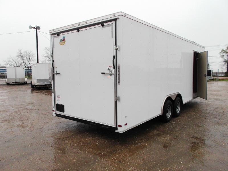 SPECIAL - 2019 Covered Wagon Cargo 8.5x24 Tandem Axle Cargo Trailer / Car Hauler w/ 7ft Interior / 5200# Axles / Heavy Duty Ramp / RV Side Door / LEDs