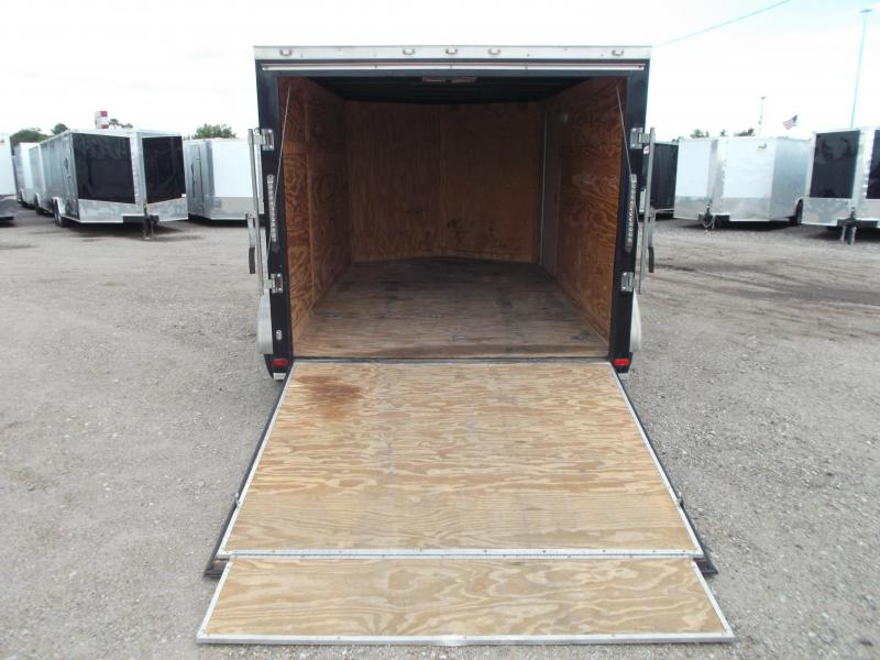 SPECIAL - 2016 Covered Wagon Trailers 7x12 Semi Low Hauler Motorcycle Trailer / Cargo Trailer / Ramp / RV Door / LEDs / D-Rings