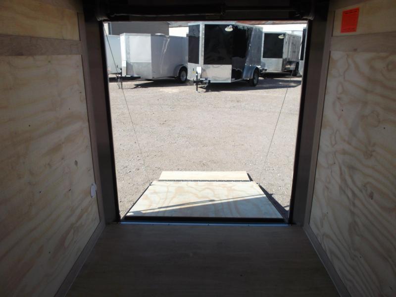 2017 Continental Cargo 5x8 Single Axle Cargo Trailer / Enclosed Trailer w/ Ramp & Side Door