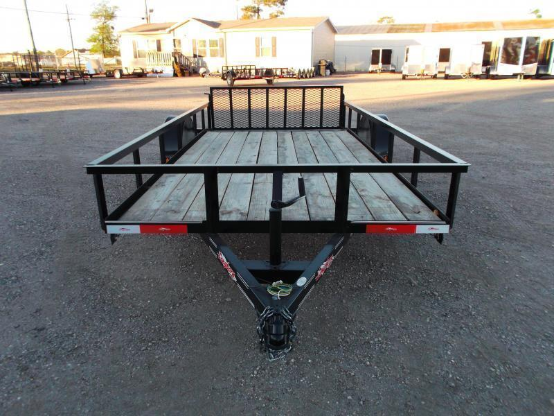 2018 Longhorn Trailers 77x14 Single Axle Utility Trailer w/ 2ft Dovetail / 2ft Ramp Gate