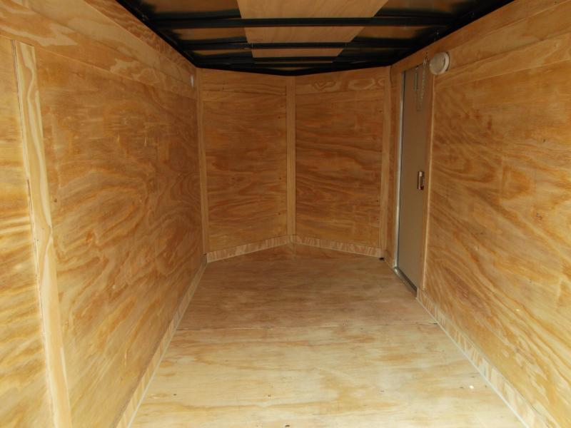 2019 Covered Wagon 5x10 Single Axle Cargo Trailer / Enclosed Trailer / Ramp / RV Side Door / LEDs / BLACK
