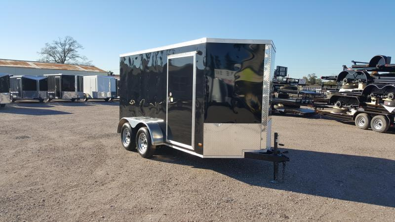 """2019 Covered Wagon Trailers 6x12 Tandem Axle Cargo Trailer / Enclosed Trailer / 6'6"""" Interior / Ramp / RV Side Door / LEDs"""