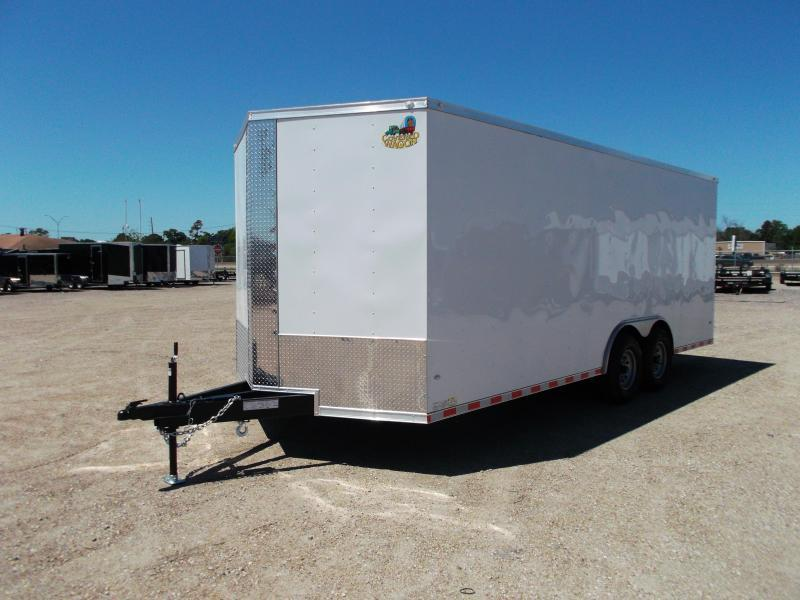 2018 Covered Wagon Trailers 8.5x20 Tandem Axle Cargo / Enclosed Trailer w/ 7ft Interior Height / 7000# Torsion Axles