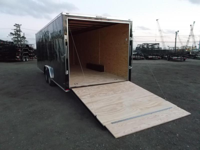 2019 Lark 8.5x24 Tandem Axle Cargo Trailer / Enclosed Trailer / Car Hauler / 5200# Axles / Heavy Duty Ramp / LEDs