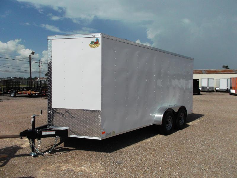 "2019 Covered Wagon Trailers 7x16 Tandem Axle Cargo / Enclosed Trailer / 6'6"" Interior / 5200# Axles / Ramp / LEDs"
