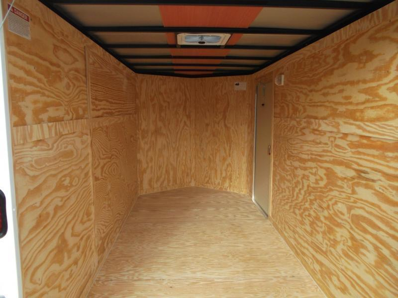 """2019 Covered Wagon Trailers 6x12 Single Axle Cargo Trailer / Enclosed Trailer / 6'3"""" / Ramp / RV Side Door / LEDs"""